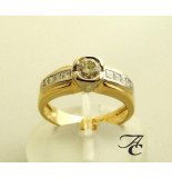 Atelier Christian Geel gouden ring met diamanten 0.91 ct. wit goud