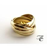 Atelier Christian Gouden duimring van 8 ringen geel goud