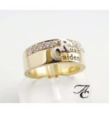 Atelier Christian Gouden ring speciaal met eigen initialen geel goud