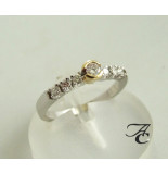 Atelier Christian Ring met diamanten wit goud