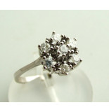 Christian Gouden rozet ring met diamant wit goud