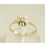 Christian Gouden ring met briljant geslepen diamanten geel goud