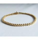 Christian Gouden tennisarmband met diamanten geel goud