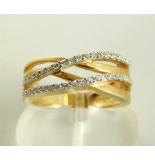 Christian Gouden ring met diamanten geel goud
