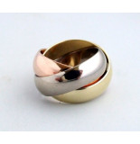 Christian Tricolor ring rosé goud