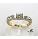 Atelier Christian Gouden briljant geslepen diamanten ring wit goud