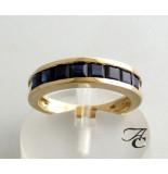 Atelier Christian Ring met saffier geel goud