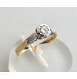Christian 18 karaat bicolor ring met briljant wit goud