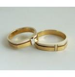 Christian Geel- en wit gouden trouwringen geel goud
