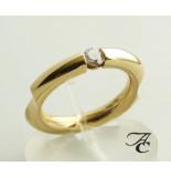 Atelier Christian Gouden fantasie ring met briljant geel goud