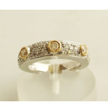 Christian 14 karaat bicolor gouden ring met briljanten