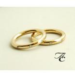 Atelier Christian Gouden trouwringen met diamant geel goud