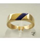 Atelier Christian Gouden ring met lapis lazuli geel goud