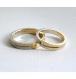 Christian Gouden trouwringen met diamant geel goud