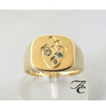 Atelier Christian Gezin trouwring geel goud