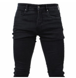 Paname Brothers Heren jeans slim fit stretch lengte 34 jimmy zwart