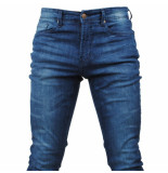 Paname Brothers Heren jeans white wash slim fit stretch lengte 34 jimmy blauw
