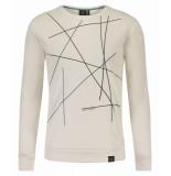 Kultivate 1801011042 203 sweater lines ecru wit