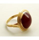 Casio Ocn gouden agaat ring geel goud