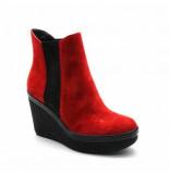 Calvin Klein Women shanna suede scarlet rood