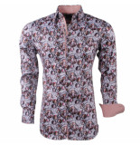 Montazinni Heren overhemd met trendy design grijs