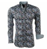 Montazinni Heren overhemd met trendy design groen