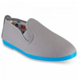 Flossy Style Sole colour luna instapper grey blue blauw