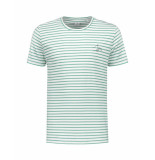 The GoodPeople T-shirt homme white green blauw