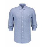 The GoodPeople Overhemd cuba mid blue blauw