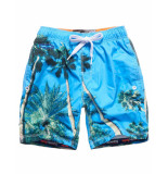 Superdry Zwembroek palm tree blue grijs