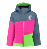 Dare2b /pink/groene meisjes ski jas debut blauw