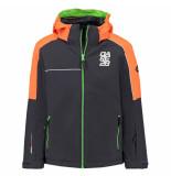 Dare2b /oranje jongens ski jas labyrinth waterproof grijs