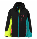 Kilpi Meisjes ski jas sawa met 10.000mm waterkolom zwart