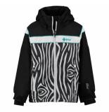 Kilpi /witte meisjes ski jas delis met 10.000mm waterkolom zwart