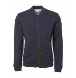 No Excess Cardigan bomber padded blauw