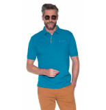 Campbell Polo met korte mouwen aqua blauw