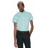 Scotch & Soda Casual shirt met korte mouwen licht blauw