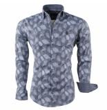 Ferlucci Heren overhemd veren puglia grijs