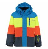 Kilpi /lime/oranje jongens ski jas ormes met 5.000mm waterkolom blauw