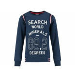 Baker Bridge Sweater kruz navy blauw