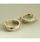 Christian Gouden bicolor oorbellen geel goud