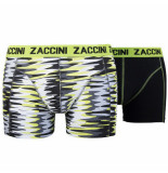 Zaccini 2pack boxershorts uni camouflage zwart