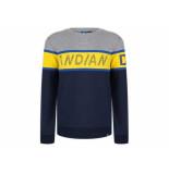 Indian Blue Sweater crewneck denim navy ibb19-4504 blauw
