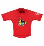 Sonpakkie Uv shirt bold fish uv factor 60 rood