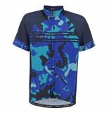 Rogelli Kinder fietsshirt camo blue blauw