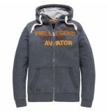 PME Legend Hooded jacket brushed falcon salute grijs