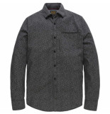 PME Legend Long sleeve shirt melange print garrison silver bi grijs