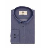 Bertoni of Denmark Overhemd shirt mads blue blauw