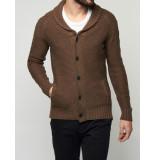 Selected Homme Vest magnus shawl neck cardigan camel bruin