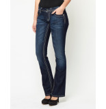 Miss Me Jeans abstract royal emblem bootcut dk denim blauw